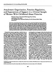 Attachment organization, emotion regulation ... - Wiley Online Library