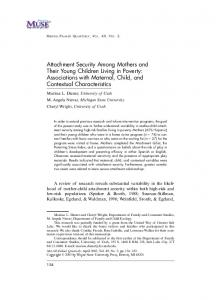 Attachment Security Among Mothers and Their Young Children Living