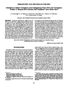 Attempts to Detect Transgenic and Endogenous Plant DNA and ...
