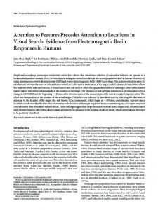 Attention to Features Precedes Attention to Locations in Visual Search ...