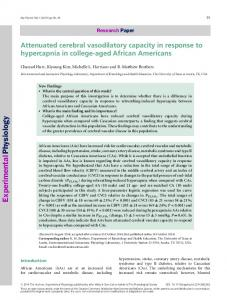 Attenuated cerebral vasodilatory capacity in ... - Wiley Online Library
