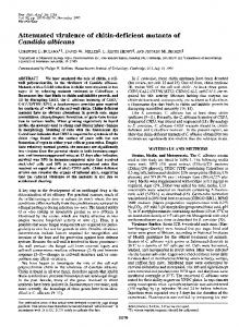 Attenuated virulence of chitin-deficient mutants of ... - Europe PMC