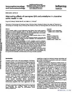 Attenuating effects of coenzyme Q10 and amlodipine ...