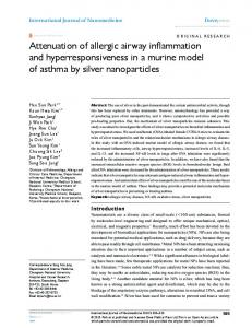 Attenuation of allergic airway inflammation and