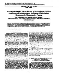 Attenuation of Bragg backscattering of electromagnetic waves from ...