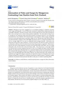 Attenuation of Tides and Surges by Mangroves: Contrasting Case