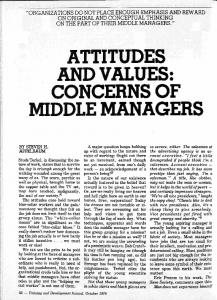 attitudes and values: concerns of middle managers