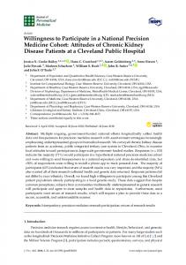 Attitudes of Chronic Kidney Disease Patients at a Cleveland - MDPI