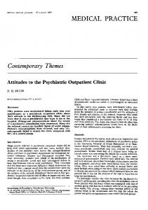 Attitudes to the psychiatric outpatient clinic