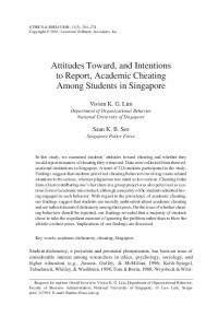 Attitudes Toward, and Intentions to Report, Academic ... - CiteSeerX