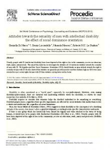 Attitudes towards the sexuality of men with intellectual disability: the ...