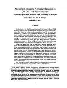 Attributing Effects to A Cluster Randomized Get-Out-The-Vote Campaign
