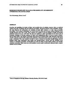 attributing health effects to air pollution 89 sources of ... - CiteSeerX