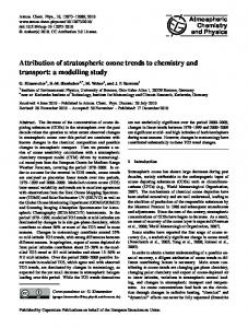 Attribution of stratospheric ozone trends to ... - Atmos. Chem. Phys