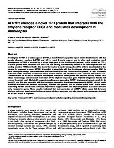 AtTRP1 encodes a novel TPR protein that interacts ... - Oxford Journals