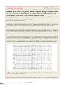 Atypical atrial flutter in a patient with atrial septal ...