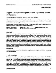 Atypical ganglioneurocytoma - Sciedu Press