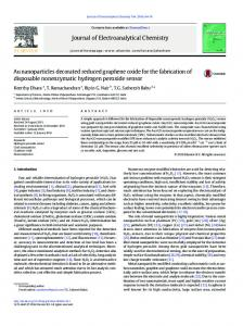 Au nanoparticles decorated reduced graphene oxide ...
