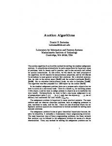Auction Algorithms - MIT