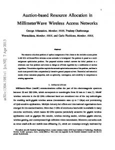 Auction-based Resource Allocation in MillimeterWave Wireless ...