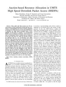 Auction-Based Resource Allocation in UMTS High Speed Downlink ...