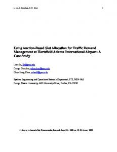 Auction-Based Slot Allocation for Traffic Demand Management at ...