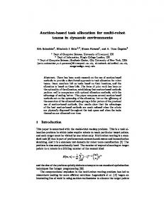 Auction-based task allocation for multi-robot teams in dynamic ...