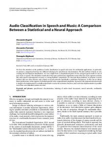 Audio Classification in Speech and Music: A
