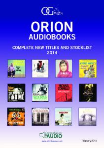 Audio Stocklist - 2014 - Orion Books
