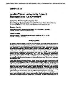 Audio-Visual Automatic Speech Recognition: An ... - Semantic Scholar