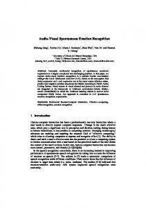 Audio-Visual Spontaneous Emotion Recognition - Semantic Scholar