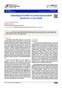 Audiological Profile in Laurencemoon Biedl Syndrome: A Case Study