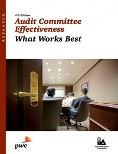 Audit Committee Effectiveness What Works Best - PwC