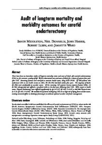 Audit of longterm mortality and morbidity outcomes ... - Semantic Scholar