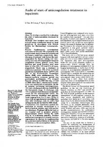 Audit of start of anticoagulation treatment in - Journal of Clinical ...