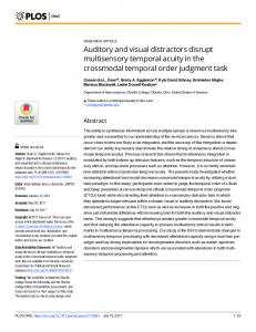 Auditory and visual distractors disrupt multisensory