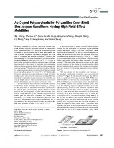 AuDoped PolyacrylonitrilePolyaniline CoreShell ... - Wiley Online Library