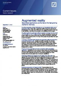 Augmented reality - SSRN papers