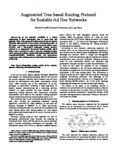 Augmented Tree-based Routing Protocol for Scalable Ad Hoc Networks