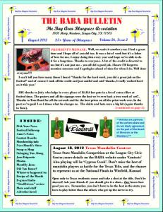 August 2012 Newsletter - Bay Area Bluegrass Association