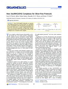 [Au(NHC)(OH)] Complexes for Silver-Free Protocols - ACS Publications