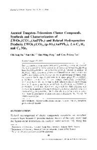 Aurated tungsten-triosmium cluster compounds. Synthesis and