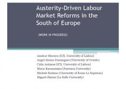 Austerity-Driven Labour Market Reforms in the South ...