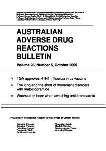 Australian Adverse Drug Reactions Bulletin