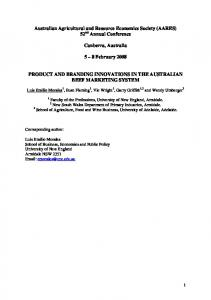 Australian Agricultural and Resource Economics ... - AgEcon Search