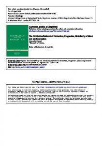 Australian Journal of Linguistics The Attributive ... - PhilPapers