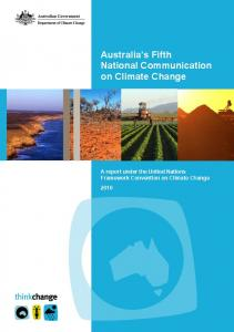Australia's Fifth National Communication on Climate Change