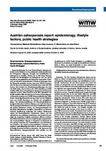 Austrian osteoporosis report: epidemiology, lifestyle ... - Springer Link