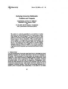 Authoring Interactive Multimedia: Problems and