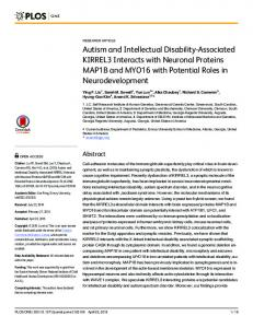 Autism and Intellectual Disability-Associated